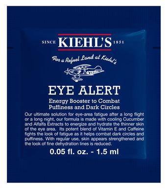 **พร้อมส่ง**Kiehl's Eye Alert ขนาดทดลอง 1.5ml. ทรีทเมนต์เพิ่มพลังให้ผิวหนังรอบดวงตา ช่วยลดรอยคล้ำและถุงใต้ตา นับเป็นตัวช่วยที่ดีที่สุดสำหรับความอิดโรยบริเวณรอบดวงตา โดยเฉพาะจากการเดินทางบนเครื่องบินหรือหลังจากค่ำคืนที่ยาวนาน สารสกัดจากแตงกวาที่ให้ควา