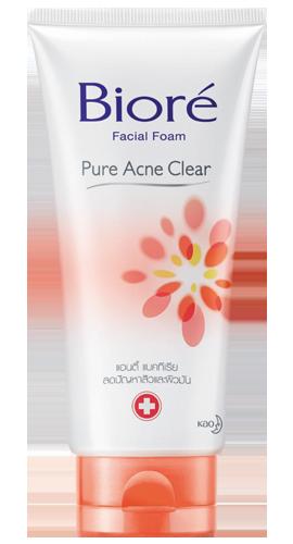 Biore Facial Foam Pure Acne Clear บิโอเร เฟเชี่ยล โฟม เพียว แอคเน่ เคลียร์