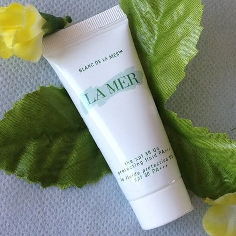 **พร้อมส่ง**LA MER Blanc de La Mer The SPF 50 UV Protecting Fluid PA+++ ขนาดทดลอง 15 ml. ,