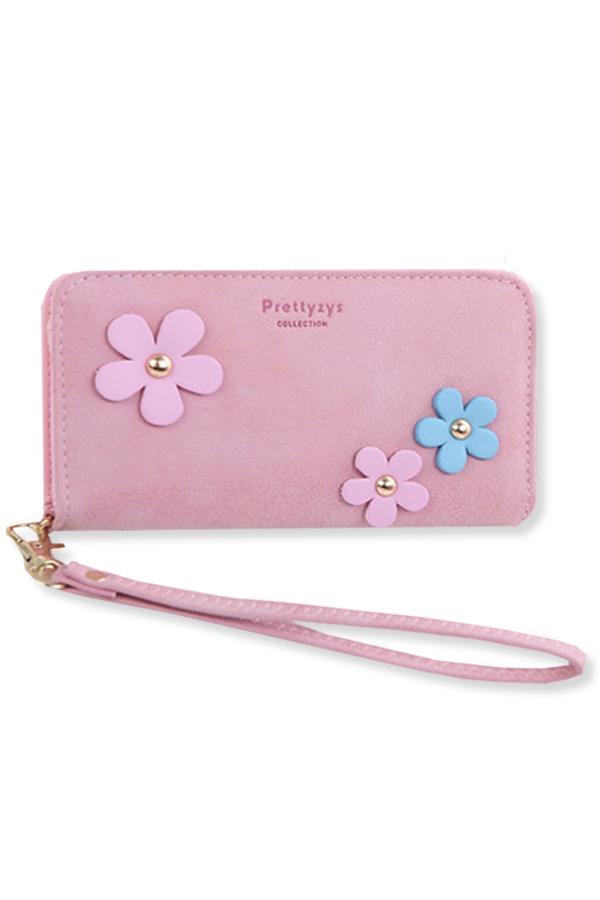กระเป๋าสตางค์ผู้หญิง ทรงยาว รุ่น Prettyzys - Pink