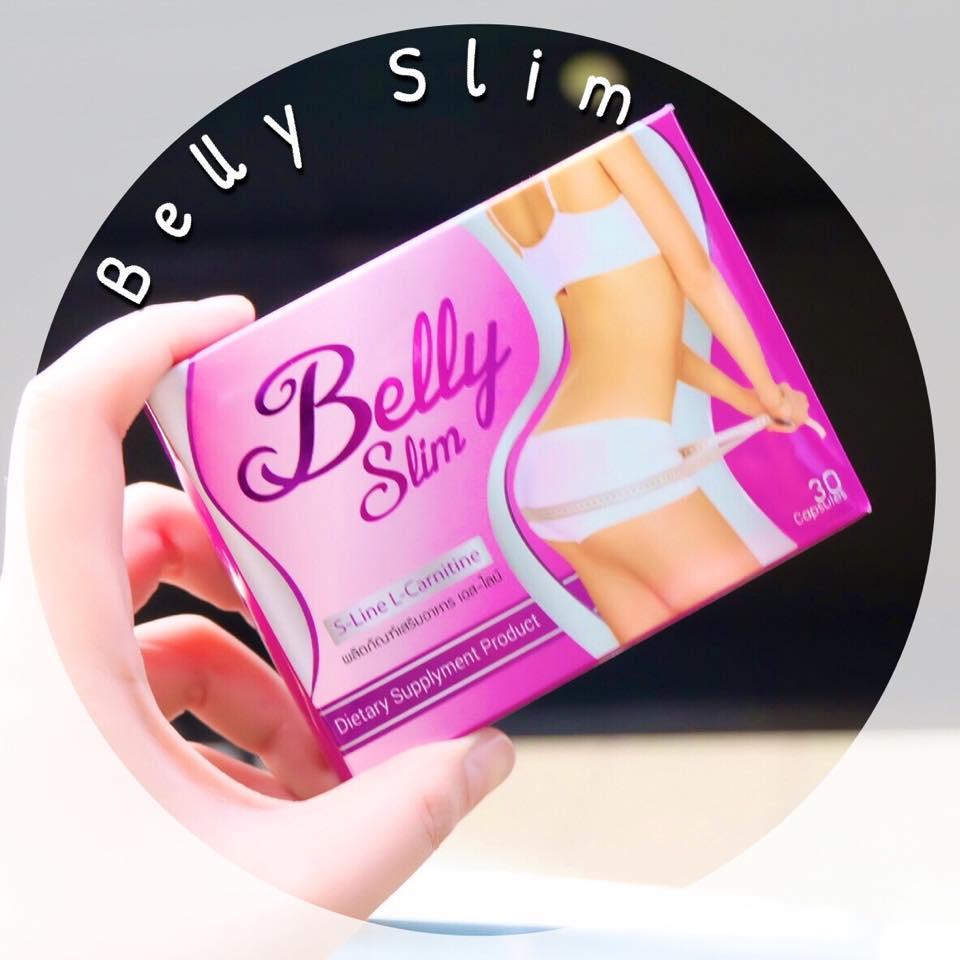 Belly Slim S-line L-carnitine เบลลี่ สลิม ลดสัดส่วน กระชับรูปร่าง ลดพุง