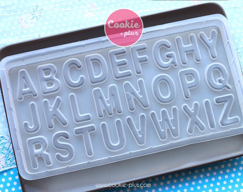 แม่พิมพ์พลาสติก พิมพ์วุ้นลายตัวอักษร ABC