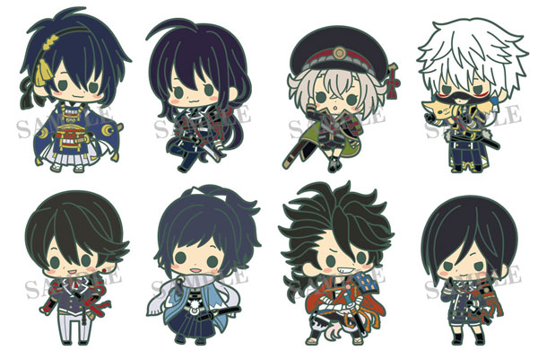 es Series nino Rubber Strap Collection - Touken Ranbu Unit 1 8Pack BOX(Pre-order)