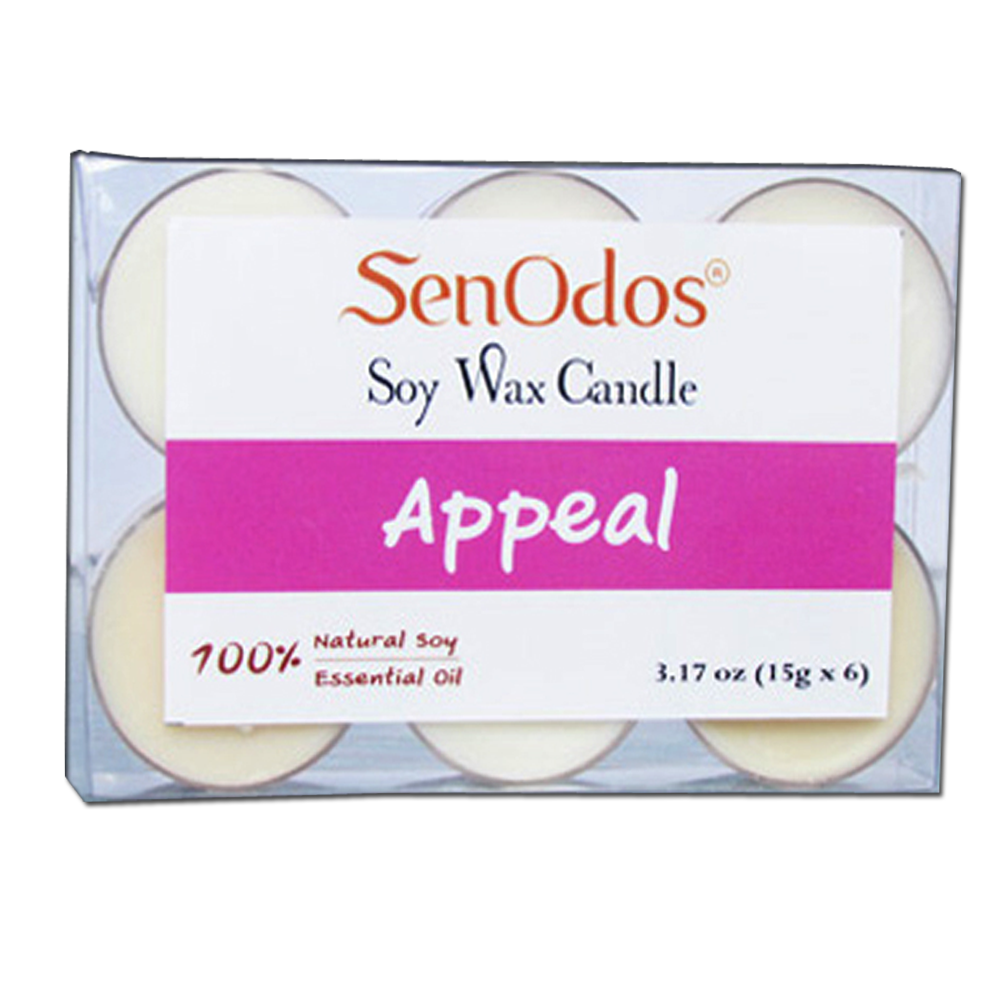 SenOdos Emotional Scented Soy Candles Aroma Appeal เทียนหอมอโรม่า (แพ็ค 6 ชิ้น)