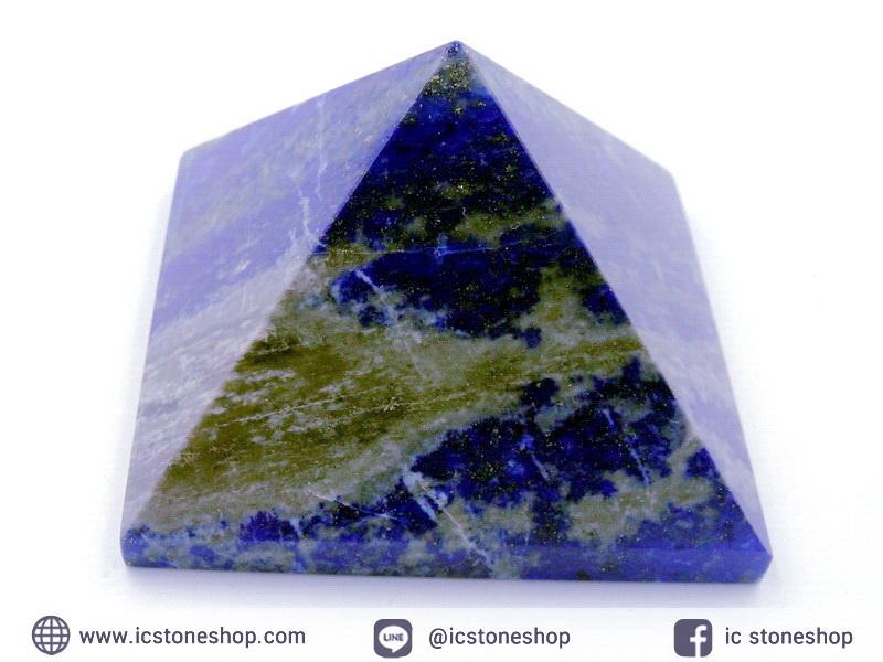 หินทรงพีระมิค-ลาพิส ลาซูลี (Lapis lazuli) (113g)