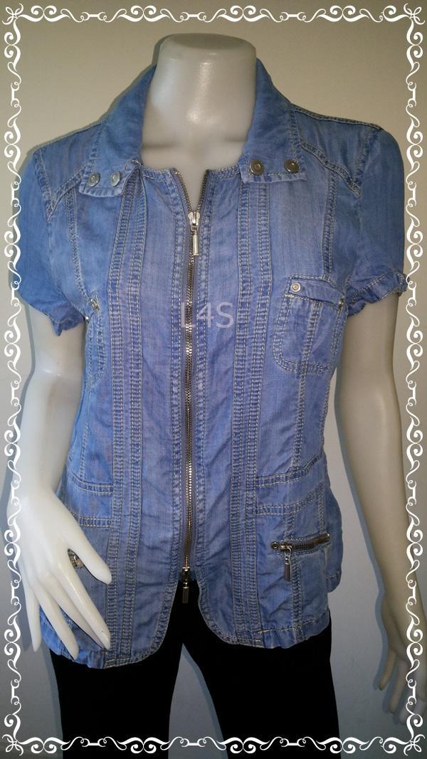 Jeans0016---เสื้อยีนส์ ฟอกนิ่ม นำเข้า BONITA อก free-38 นิ้ว