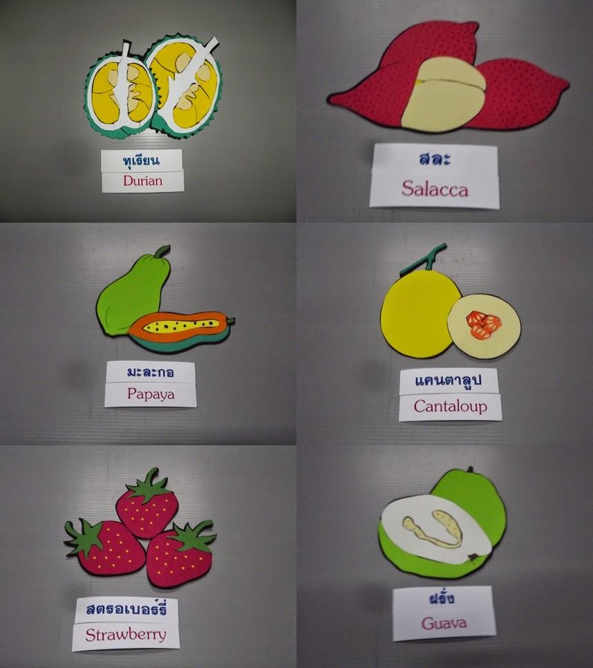 ตุ๊กตาติดผนังรูปผักผลไม้