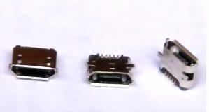 Micro USB Female Copper microusb socket 5p miniusb micro usb female