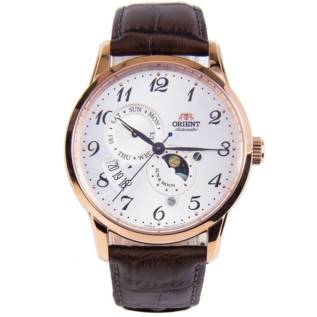 นาฬิกาผู้ชาย Orient รุ่น RA-AK0001S00B, Automatic Sun And Moon Japan Made Men's Watch