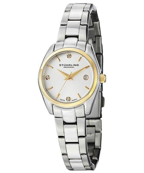 นาฬิกาผู้หญิง Stuhrling Original รุ่น 414L.03, Ascot Prime Swiss Quartz Date Display