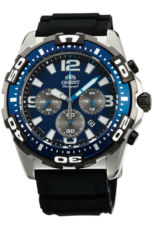 นาฬิกาผู้ชาย Orient รุ่น FTW05004D0, Quarz Chronograph Sport WR 100M