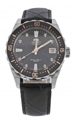 นาฬิกาผู้หญิง Orient รุ่น SAC0A005T0, Automatic Crystals 100m Black Leather Elegant