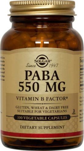 Solgar Paba 550 mg 100 Veggie Caps