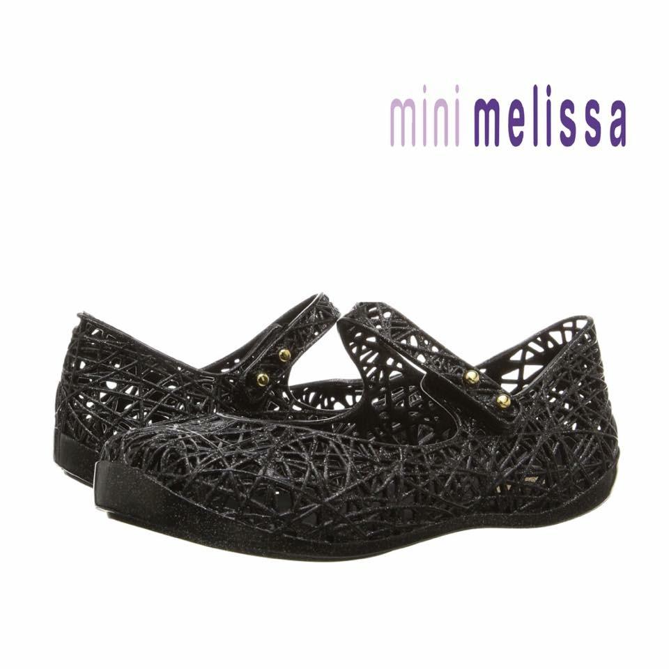 รองเท้ารังนกยอดฮิตสำหรับลูกสาว Mini Melissa รุ่น Campana Zig Zag VI (Black)
