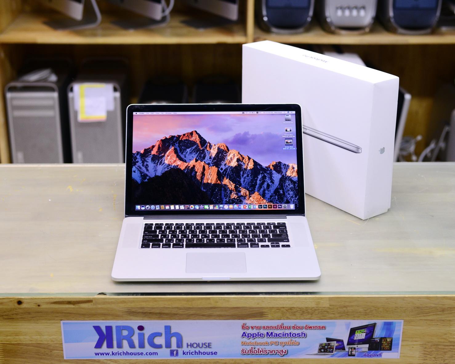 TOP MODEL - MacBook Pro (Retina 15-inch Mid 2012) i7 2.6GHz RAM 16GB SSD 512GB Nvidia GeForce GT 650M 1GB - FullBox