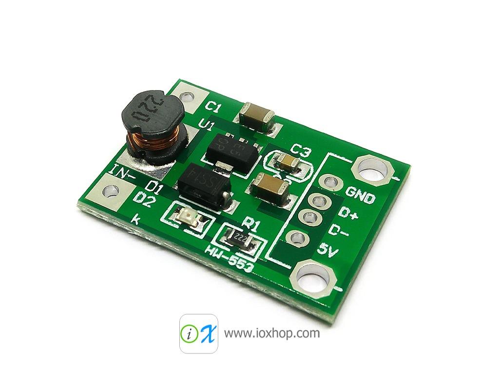 1-5V to 5V 500mA DC-DC Boost Converter Step Up Module
