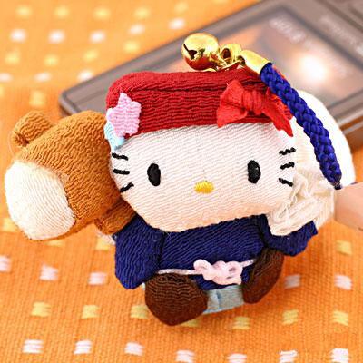 ที่ห้อยมือถือ Hello Kitty ซีรี่ย์เทพเจ้าทั้ง 7 รุ่น Daikokuten นำพาความมั่งคั่ง อุดมสมบูรณ์ กินดีอยู่ดี