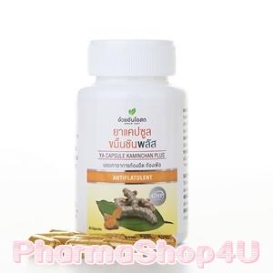 Herbal one อ้วยอัน โอสถ ขมิ้นชัน พลัส บรรจุ 60 แคปซูล ขับลม บรรเทาอาการท้องอืด แน่นท้อง บรรเทาโรคแผลกระเพาะอาหาร