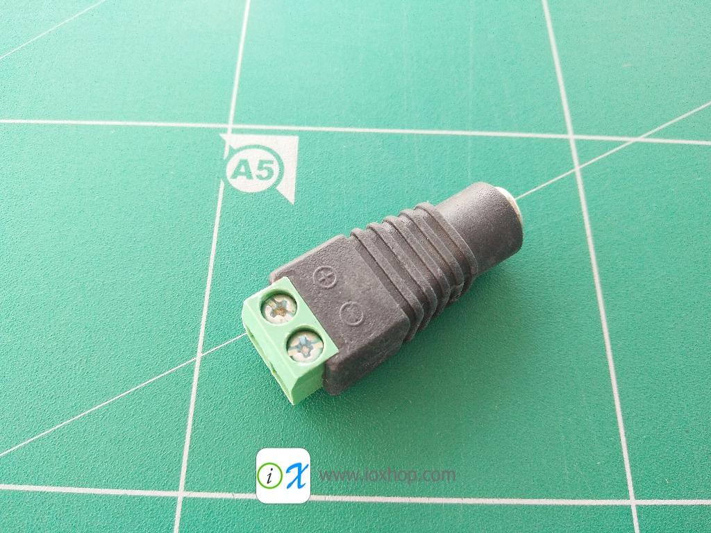 5.5x2.1mm DC Power Female Plug Connector