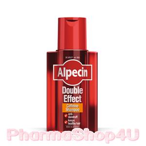Alpecin Double Effect Caffeine Shampoo 200mL อัลเปซิน คาเฟอีนป้องกันผมร่วงพร้อมสารกำจัดรังแค เพื่อผมสุขภาพดี ลดเคราตินเซลล์ที่เป็นสะเก็ด