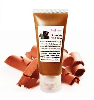 Chocolate Facial Scrub สครับขัดผิวหน้าช็อคโกเเลต ให้ผิวหน้าเนียนนุ่ม ชุ่มชื้นอย่างมีสุขภาพดี ลดสิว ลดอาการอักเสบ