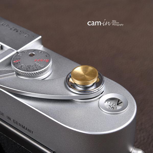 Soft Shutter Release ปุ่มเว้าลง สีทอง กดง่ายสะดวก สำหรับ Fuji X10 X20 X100 XE1 Leica ฯลฯ
