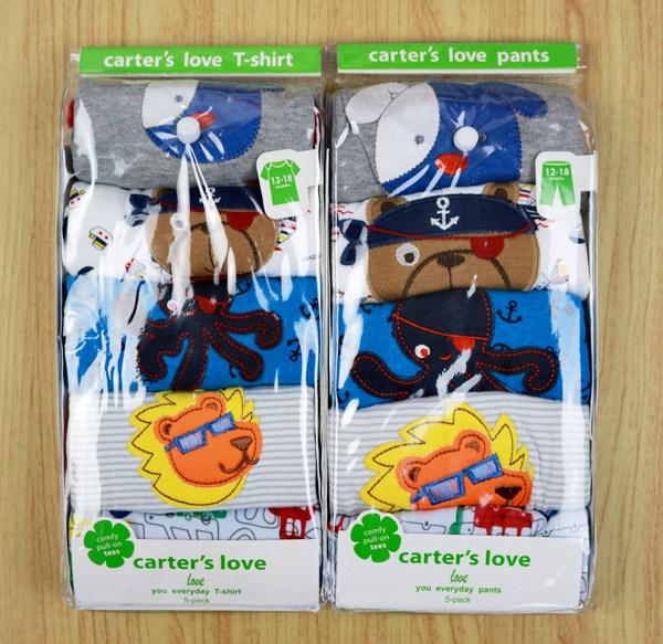 ชุดแขนสั้น Carter's แพค 5 ชุด (12/18 เดือน) ป้ายเขียว