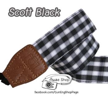 สายคล้องกล้อง Scott Black