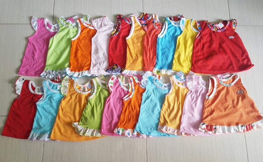 เสื้อเด็กหญิงสีพื้น ( แพค 5 ตัว)