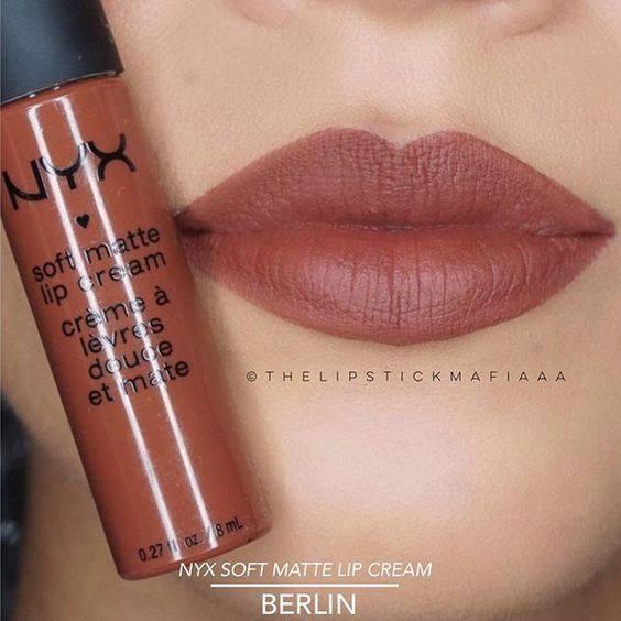 NYX Soft Matte Lip Cream 6.5g # SMLC 23 BERLIN ลิปครีม เนื้อแมท นุ่ม สีติดทนนาน ไม่แห้งด้าน