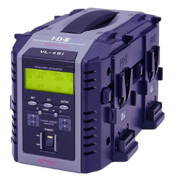 IDX VL-4SI 4-Channel Fully Simultaneous V-Mount Battery Charger with LCD Intelligent Display