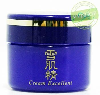 Kose Sekkisei Cream Excellent 15 ml.ไนท์ครีมที่มีสารบำรุงที่เข้มขัน และสารให้ความขาวซึมซาบสู่ผิวภายใน
