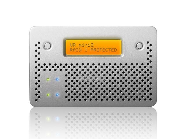 CalDigit VR mini 2 Max Capacity: HDD 2TB | Interface: USB 3.0 & FireWire 800