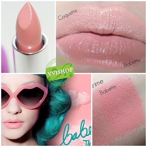 Lime Crime Opaque Lipstick 3.5 g # Babette สีชมพูส้ม นมๆ สีสวย น่ารักสุดๆ เป็นสีใหม่ที่ฮิตมากๆ (ขนาดปกติ Inbox) *หมดค่ะ*