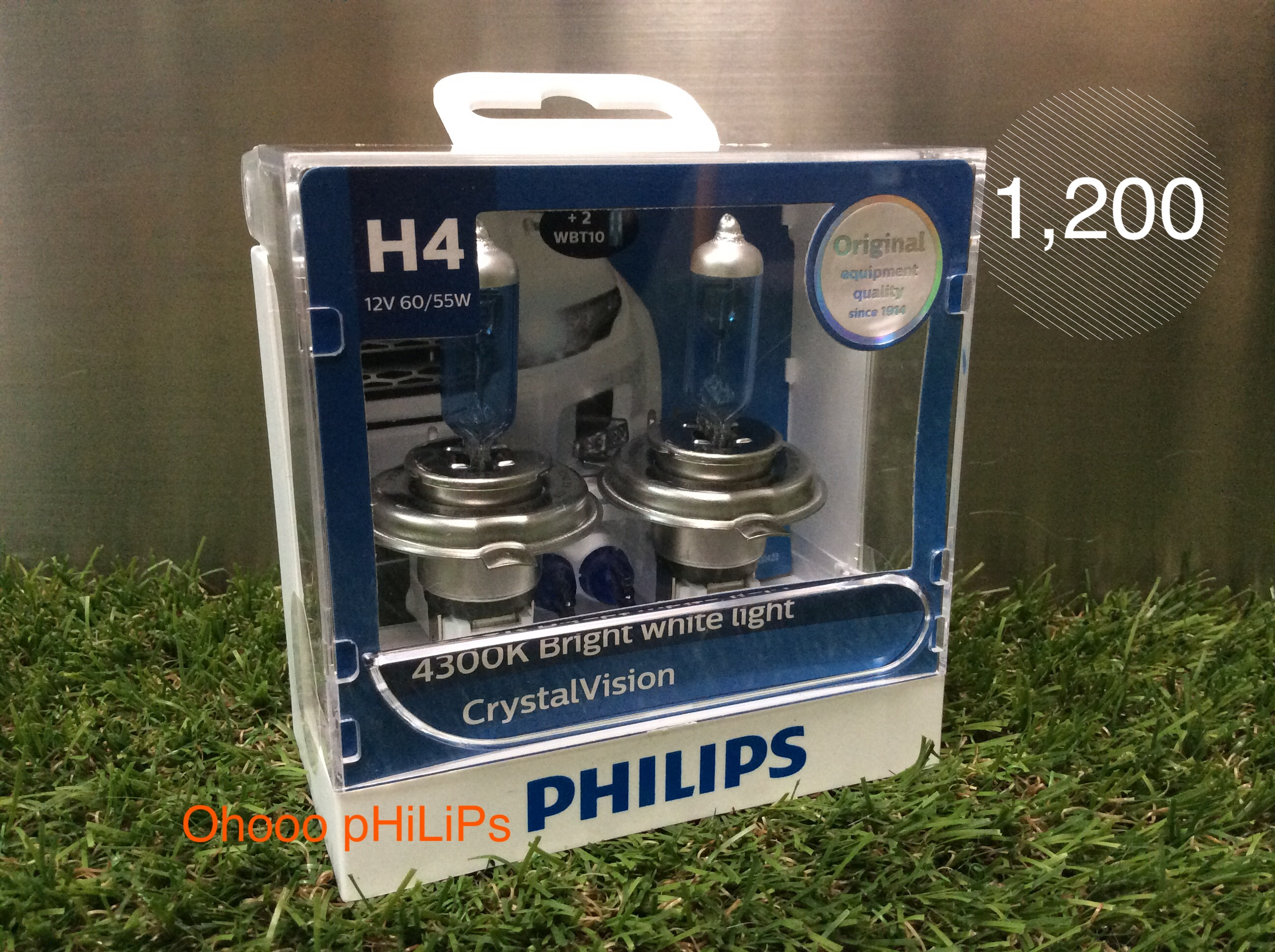 Philips Crystal Vision 4300K H4