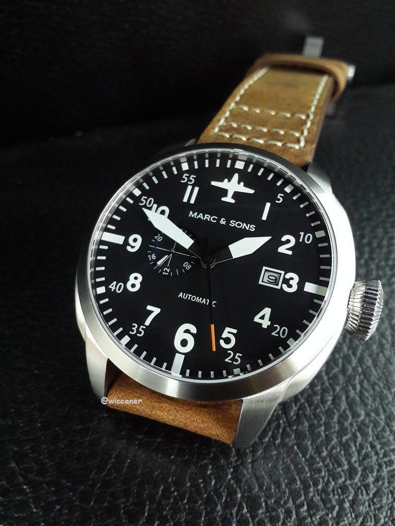 นาฬิกานักบินเยอรมัน MARC & SONS automatic watch, mechanical pilot MSF-003