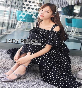 Lady Ribbon Layered Cotton Dress