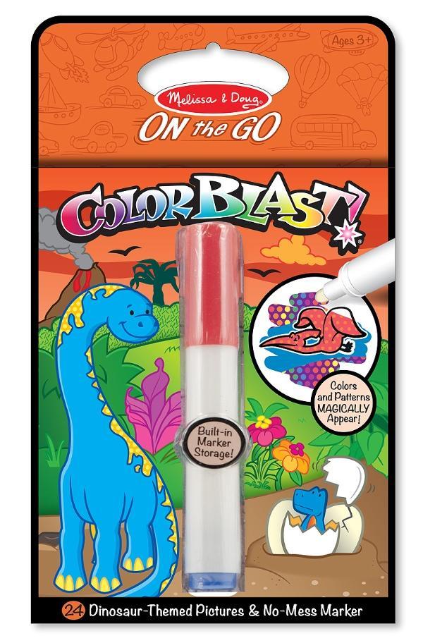สมุดระบายสีแบบพกพา Melissa & Doug On the Go ColorBlast Activity Book ไดโนเสาร์