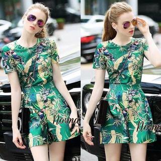Lady Ribbon Online เสื้อผ้าออนไลน์ขายส่ง Normal Ally เสื้อผ้า,NA04220816 &#x1F389Normal Ally Present tropical printing wide leg pant set&#x1F389