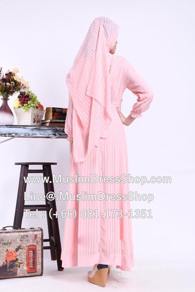 islamic clothing, muslim clothing, modest dresses, muslim clothes, clothes muslim, clothes muslim, , modest clothing, modest clothes ชุดเดรสมุสลิมแฟชั่นพร้อมผ้าพัน ชุดเดรสชีฟองพิมพ์ลายประดับดอกไม้ ID : ChffRse02