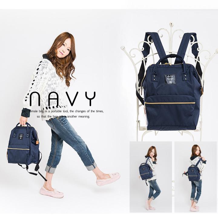 กระเป๋า Anello ขนาด mini สีน้ำเงิน Navy ของแท้ นำเข้าจากญี่ปุ่น พร้อมส่ง
