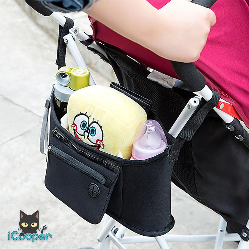 RONG.SHI.DAI Baby Stroller Hanging Bag (Black)