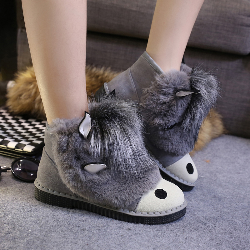 (Pre Order) รองเท้า Botas femininas มาใหม่รองเท้าผู้หญิง รองเท้าฤดูหนาวที่อบอุ่นรองเท้าหิมะ มี 3 สี ดำ,เทา,น้ำตาล,ไซส์ 35,36,37,38,39,40