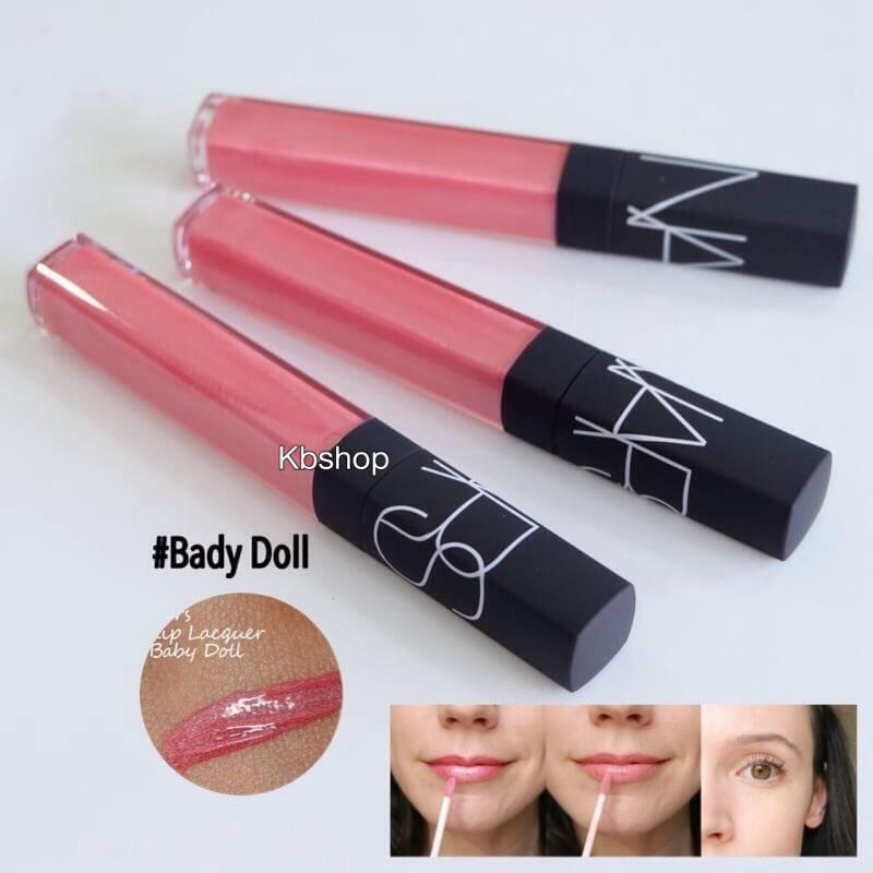 #Nars lip gloss (No Box) ขนาดปกติ 6ml &#x1F48B สี Baby Doll สีชมพูเบบี๋&#x1F48B