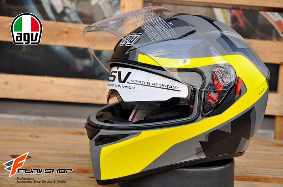 หมวกกันน็อค AGV K3 SV Camodaz Matt Yellow (Asia Spec)