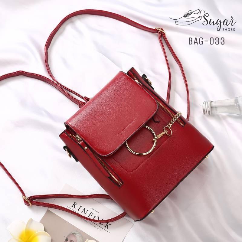 พร้อมส่ง กระเป๋าสะพายผู้หญิง - BAG-033 [สีแดง]