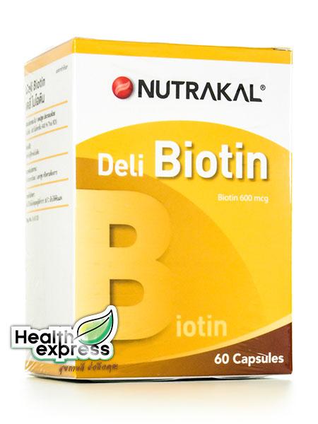 Nutrakal Deli Biotin นูทราแคล เดลี่ ไบโอติน บรรจุ 60 แคปซูล