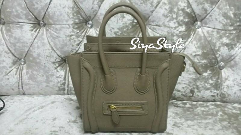 กระเป๋าสะพายแฟชั่น กระเป๋าสะพายข้างผู้หญิง ซีลีนนาโน (CELINE NANO) [สีกาแฟ]
