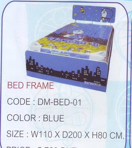เตียงโดเรมอน ขนาด 3.5 ฟุต ลายลิขสิทธิ์แท้