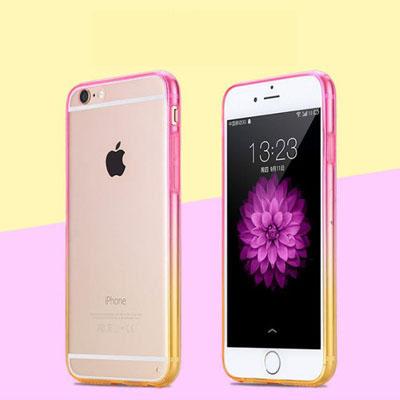 เคสใส ขอบสี (เคสยาง 0.6 / หนา 1.5) - iPhone6 Plus / 6S Plus